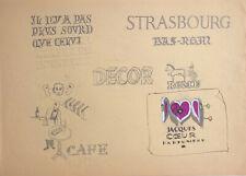 Dessin Vintage Études Lettrine Parfum Parfumerie Jacques Coeur Café Strasbourg