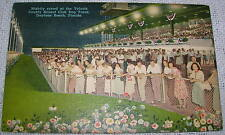 Vintage Crowd at Volusia County Kennel Club Dog Track, Florida Linen Postcard
