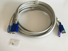Male to Female VGA + 2x PS/2 KVM Extension Lead, 5 m