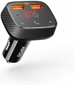 ROAV by Anker 2-Ports USB Car Charger Bluetooth FM Transmitter Audio Adapter MP3