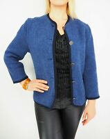GIESSWEIN Button Front Pure New Wool Boiled Wool Blazer Jacket Made in Austria