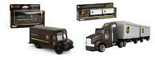 Daron UPS package delivery Truck & UPS Tractor Trailers Die-cast Toy Gift Set