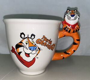 Tony the Tiger FROSTED FLAKES Cereal Bowl /Coffee Tea Mug Cup 2001 Tiger Handle