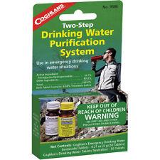 Coghlan's dos pasos sistema de purificación de agua potable, tabletas de Emergencia Camping