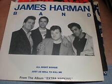 James Harman Band 45 All Night Boogie BLUE VINYL WITH SLEEVE
