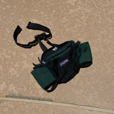 Vintage Green Jansport Waist Bag Made In USA Fanny Pack retro Hiking
