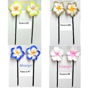 Pretty Flower Bobbie Pins Little Girls Moms Small and Large Sizes