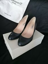 LK BENNETT BLUE LEATHER COURT SHOES SIZE 6 USED - STILL IN BOX WITH DUST BAG