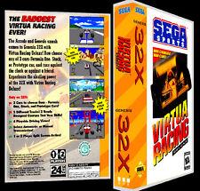 Virtua Racing Deluxe - 32X Reproduction Art Case/Box No Game.