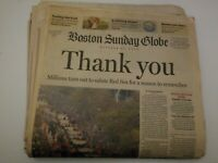 Boston Sunday Globe October 31, 2004 Boston Red Sox Thank You Complete Newspaper
