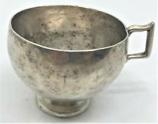 Antique Spanish Colonial Sterling Silver Hand Hammered Cup handmade heavy