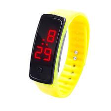Mens Boys LED Digital Date Alarm Waterproof Wristwatch Kids Sport Bracelet Watch