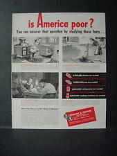 1946 Kearney & Trecker Machine Tools is America Poor? Vintage Print Ad 10990