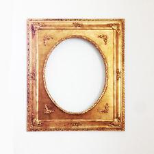 Bellissima cornice in legno color oro ovale cm 60x80
