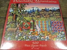 DELECTABLE MOUNTAINS ~ 500 PC. PUZZLE FROM SUNSOUT, ART BY DIANE PHALEN, SEALED