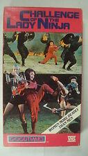 Challenge Of The Lady Ninja Vtg VHS 1987 China Seduce Slaughter Mud Wrestling