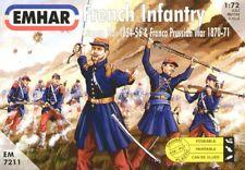 Gli EMHAR 1/72 la fanteria francese e della Crimea e Franco-Prussiana Guerre # 7211