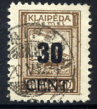MEMEL (Lithuanian Occ) 1923 (June) 30 CENT  on 50 Mk used