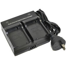 Dual Double Channel Battery Charger fr JVC BN-VG114 VG114AC VG114E BN-VG114U New