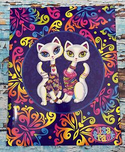 "LISA FRANK PORTFOLIO FOLDER KITTY CATS ""ROXI AND ROLLIE"" Y2K 2001 VINTAGE"
