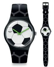 SWATCH footballissime 2016 EM Reloj suoz216 Análogo SILICONA NEGRO