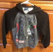 LEGO Star Wars - Full Zip Hoodie Jacket - Black Gray Youth Small YS Size 7