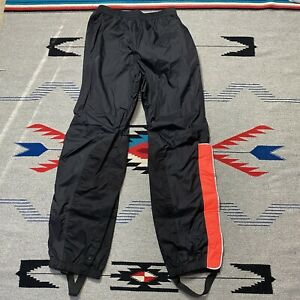 Harley-Davidson Men's Rain Pants Waterproof Nylon With Suspenders Medium