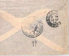 BN146 1914 Netherlands SPECIAL TRIPLE RING CDS Maritime Transit Cover Scotland