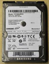 "Samsung Portátil HDD 160 GB 6.35 cm 2.5"" HM160HI SATA probado Garantía"