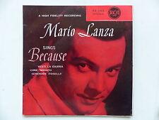 MARIO LANZA Sings Because Vesti la giubba 95202