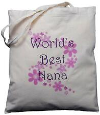 WORLD'S BEST NANA - NATURAL COTTON SHOULDER BAG -  Grandparent's Day Gift