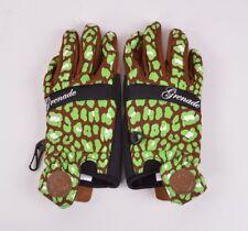 2016 Nwt Womens Grenade Peg Bundy Gloves $40 M espresso/green neoprene wrist