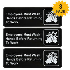 Employees Must Wash Hands Before Returning to Work Sign 9