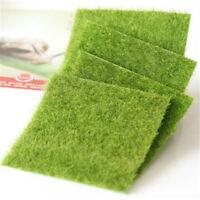 Artificial Grass Dollhouse Fake Lawn Miniature Craft Decor Fairy Garden Ornamen