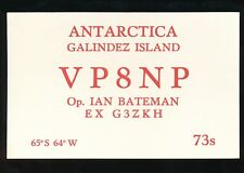 Exploration Antarctica GALINDEZ ISLAND 1975 amateur radio confirming card
