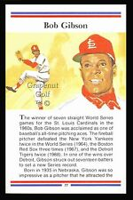 BOB GIBSON TRUE VALUE ST LOUIS CARDINALS MLB BASEBALL HOF CARD WORLD SERIES AS