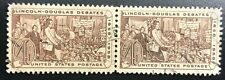 US Scott #1115 Pair of 1958 4 Cent Lincoln - Douglas Debates (Collectible Stamp)