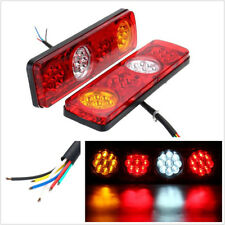 2 Pcs DC24V 36LED Car SUV Caravan Rear Tail Light Brake Stop Lamp Strip 3-Colors