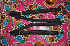 Vintage black stripe braces suspenders with clip fastening