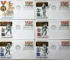 USA - VFW - 1974 VETERANS OF FOREIGN WARS - (6) First Day Covers - Deluxe Folder