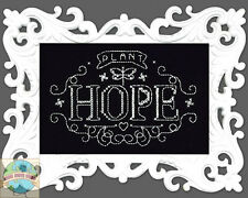 Cross Stitch Kit ~ Design Works Plant Hope Chalkboard w/Filigree Frame #DW2893