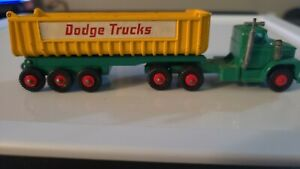 Matchbox King Size #K-16a Dodge Tractor & Twin Tippers
