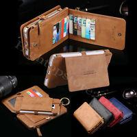 100%Floveme Abnehmbar Leder Portemonnaie Karte Reißverschluss Handy Schutzhüllen