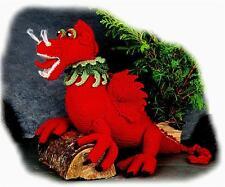 LLEWELLYN GOCH Welsh Dragon toy knitting pattern by Georgina Manvell