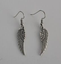 Earrings TIBETAN SILVER Drop ANGEL WINGS Brand New FASHION