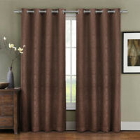 prairie grommet blackout weave embossed room window curtain panels single panel