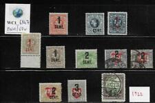 WC1_6947. LITHUANIA. Lot of stamps of 1922 set. Scott 116-119. MNH & Used