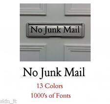 No Junk Mail Door Letter Box, Window Vinyl sticker