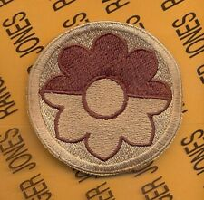 US Army 9th Infantry Division Theatre made OIF OEF Desert DCU patch c/e