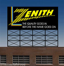 Zenith Color TV Animated Neon  Sign Miller Engineering O Scale
